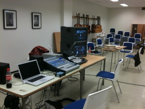 Our temporary control room