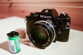 Nikon EM, with Nikkor 50mm 1.8 Ai lens and Fuji Superia 200 film