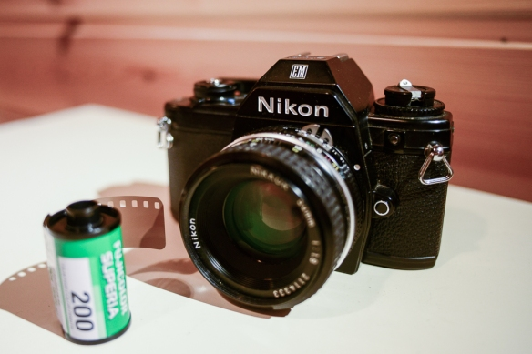 Nikon EM, with Nikkor 50mm 1.8 Ai lens and Fuji Superia 200 film
