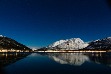 Starry evening in northern Norway