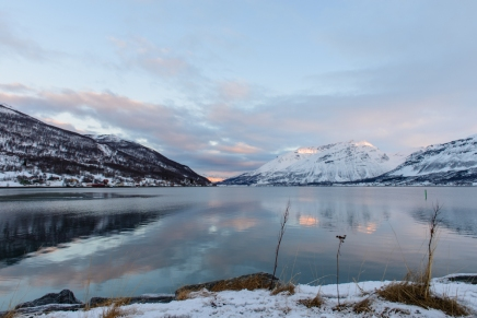 Morning sunset in northern Norway